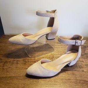 Chase & Chloe Jason-1 Pointy Toe Chunky Heel Women
